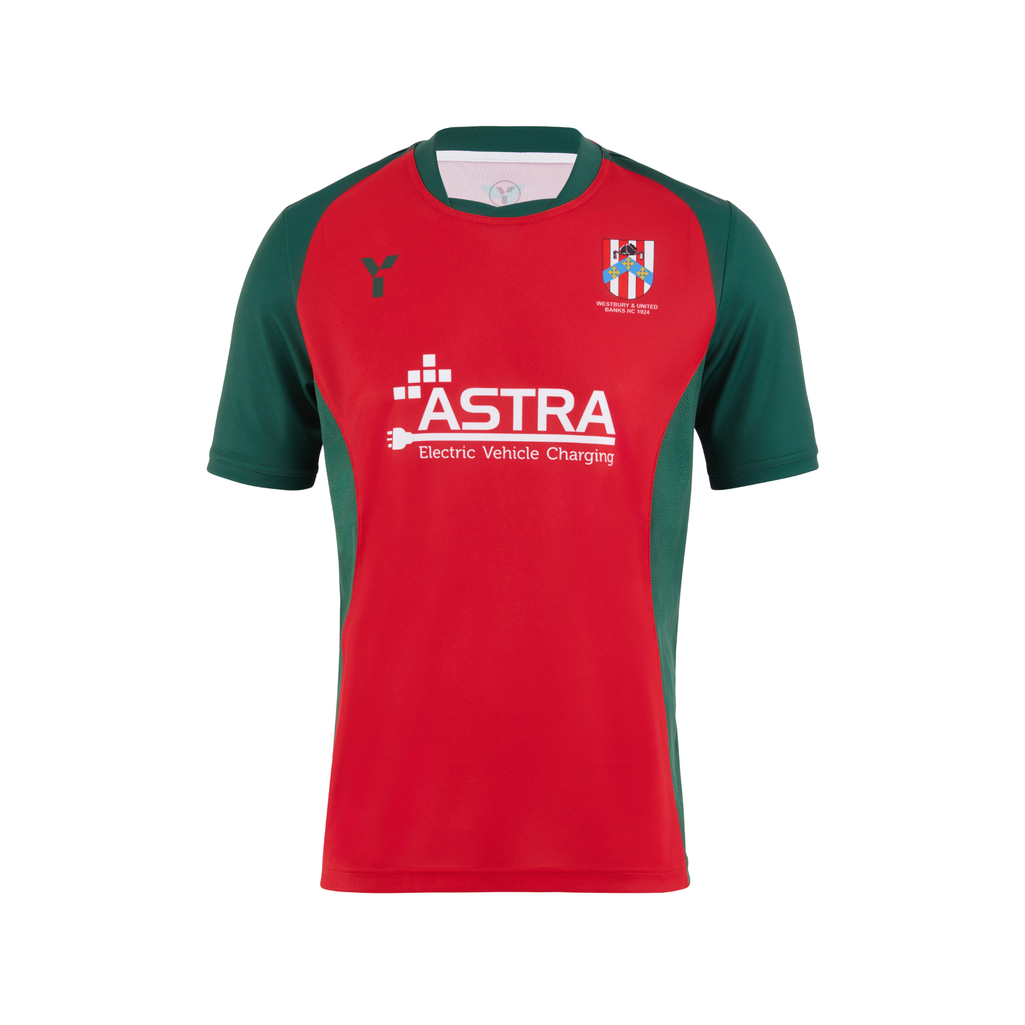 New home playing shirt with Astra EV branding